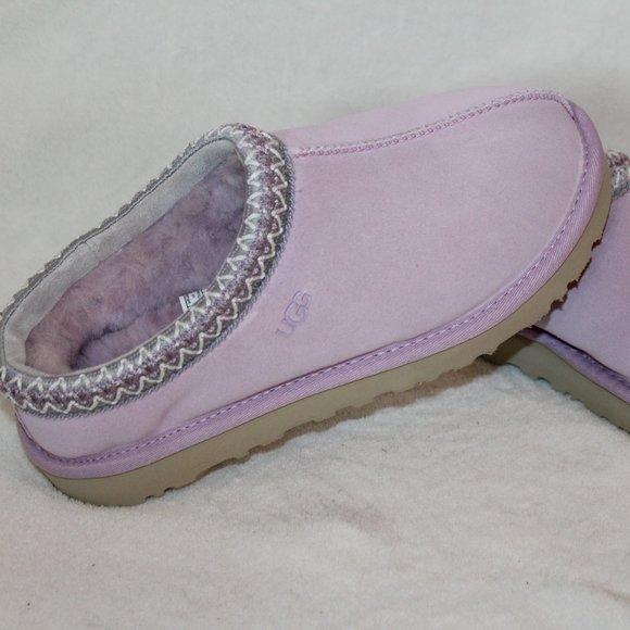 Tasman Suede Slippers Lavender Purple